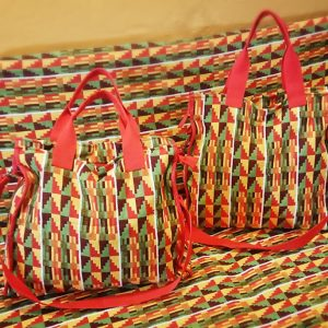 Ghanaian Kente Fabric Bag